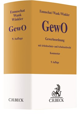 Abbildung von Ennuschat / Wank / Winkler   Gewerbeordnung: GewO   9. Auflage   2020   mit Arbeitsschutz-, Arbeitszei...