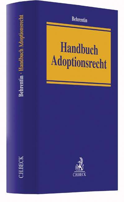 Handbuch Adoptionsrecht | Behrentin, 2017 | Buch (Cover)