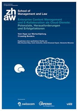 Abbildung von / Brucker-Kley | Enterprise Content Management und E-Kollaboration als Cloud-Dienste: Potenziale, Herausforderungen und Erfolgsfaktoren | 1. Auflage | 2014 | beck-shop.de