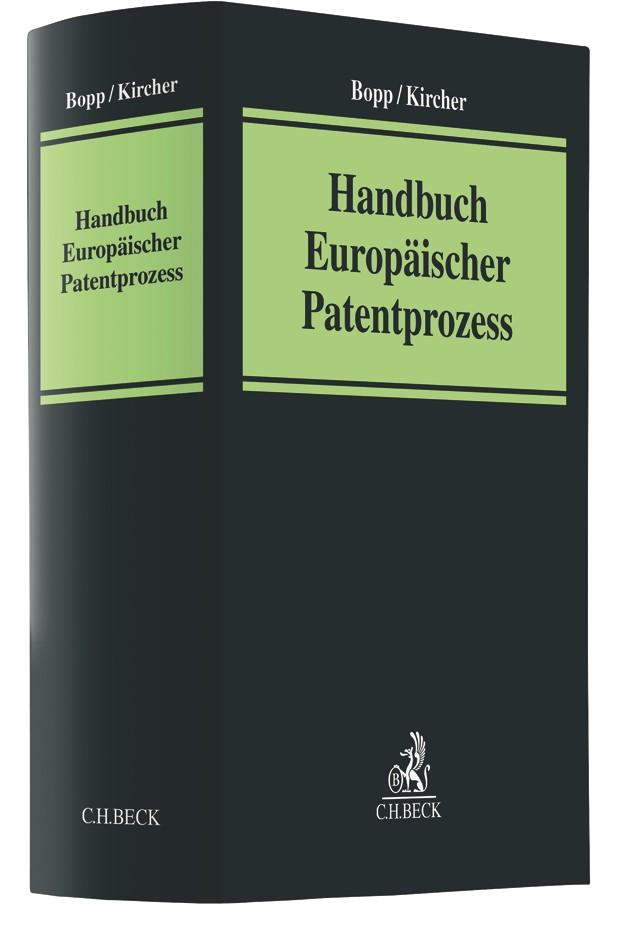 Handbuch Europäischer Patentprozess | Bopp / Kircher, 2019 | Buch (Cover)