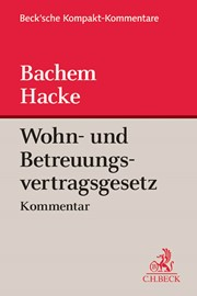 wohn und betreuungsvertragsgesetz bachem hacke 2015 buch beck. Black Bedroom Furniture Sets. Home Design Ideas