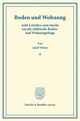 Abbildung von Weber | Boden und Wohnung | 1. Auflage | 2014 | beck-shop.de