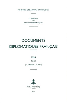 Abbildung von Documents diplomatiques français | 2014 | 1924 – Tome I (1er janvier – 3... | 11