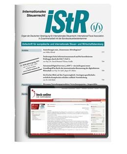 Abbildung von iStR • Internationales Steuerrecht | 28. Jahrgang | 2019 | Zeitschrift für europäische un...