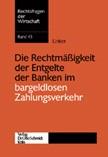 Die Rechtmässigkeit der Entgelte der Banken im bargeldlosen Zahlungsverkehr | Linker, 2004 | Buch (Cover)