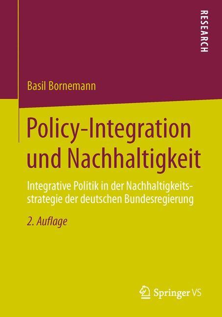 Policy-Integration und Nachhaltigkeit   Bornemann, 2014   Buch (Cover)