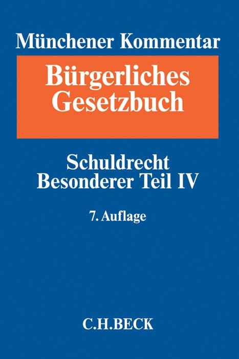 Münchener Kommentar zum Bürgerlichen Gesetzbuch: BGB, Band 6: Schuldrecht - Besonderer Teil IV, §§ 705-853, Partnerschaftsgesellschaftsgesetz, Produkthaftungsgesetz | 7. Auflage, 2017 | Buch (Cover)