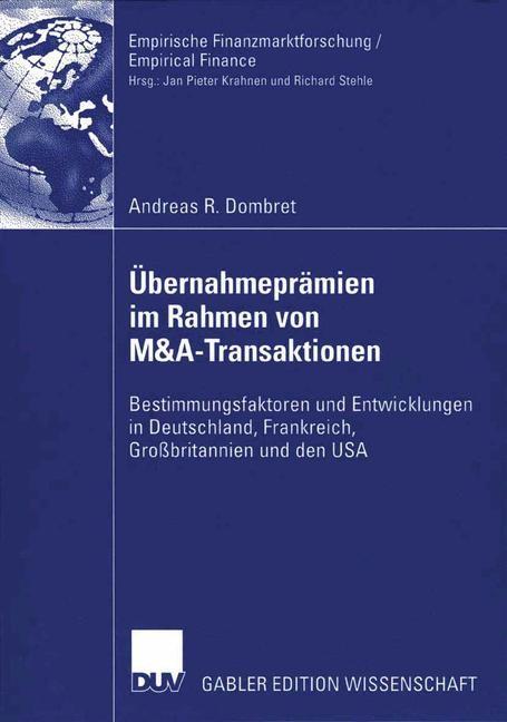 Abbildung von Dombret | Übernahmeprämien im Rahmen von M&A-Transaktionen | 2006