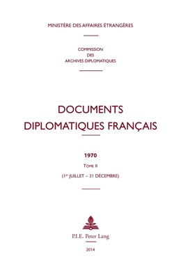 Abbildung von Documents diplomatiques français | 2014 | 1970 – Tome II (1er juillet – ... | 38