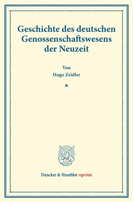Abbildung von Zeidler   Geschichte des deutschen Genossenschaftswesens der Neuzeit   2014