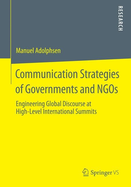 Abbildung von Adolphsen | Communication Strategies of Governments and NGOs | 2014