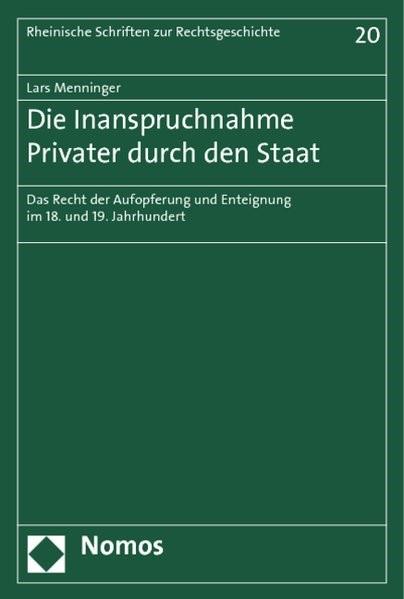 Abbildung von Menninger | Die Inanspruchnahme Privater durch den Staat | 2014