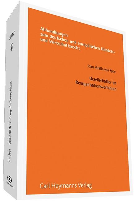 Gesellschafter im Reorganisationsverfahren (AHW 207) | von Spee, 2014 | Buch (Cover)