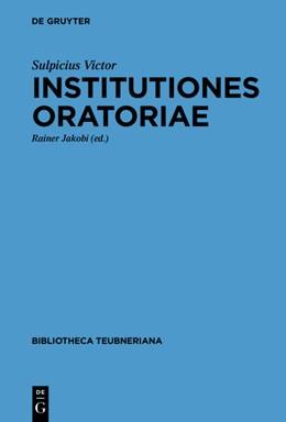 Abbildung von Jakobi   Institutiones oratoriae   1. Auflage   2022   beck-shop.de