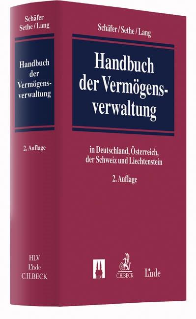 Handbuch der Vermögensverwaltung | Schäfer / Sethe / Lang | 2. Auflage, 2016 | Buch (Cover)