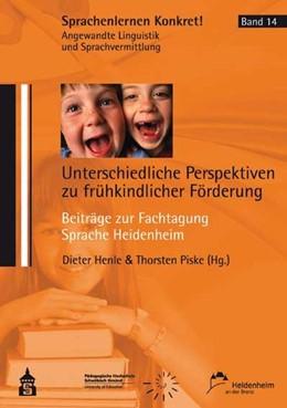 Abbildung von Henle / Piske   Unterschiedliche Perspektiven zu frühkindlicher Förderung   1. Auflage   2014   14   beck-shop.de