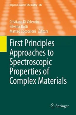 Abbildung von Di Valentin / Botti / Cococcioni | First Principles Approaches to Spectroscopic Properties of Complex Materials | 2014 | 347