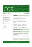 JOR • Jahrbuch für Ostrecht (Cover)