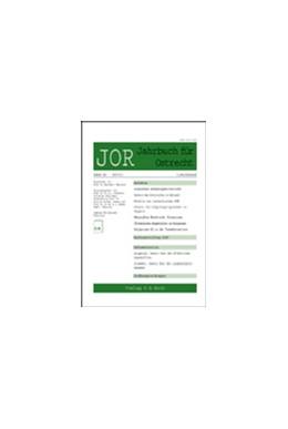 Abbildung von JOR • Jahrbuch für Ostrecht | 59. Auflage | 2021 | beck-shop.de