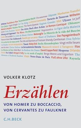 Abbildung von Klotz, Volker   Erzählen   2006   Von Homer zu Boccaccio, von Ce...