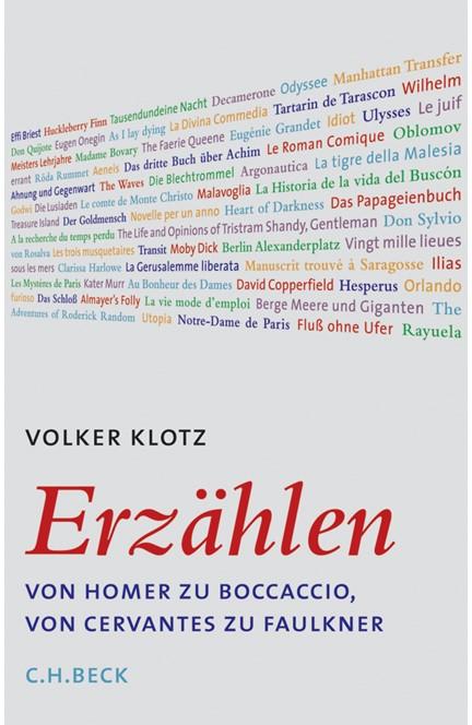 Cover: Volker Klotz, Erzählen