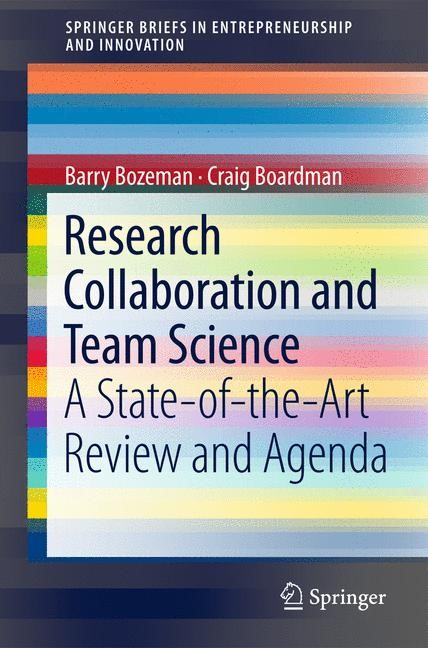 Research Collaboration and Team Science | Bozeman / Boardman, 2014 | Buch (Cover)