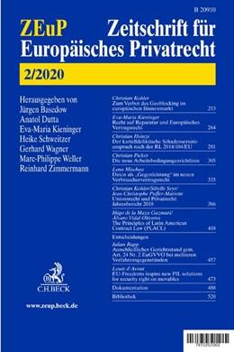 Abbildung von ZEuP • Zeitschrift für Europäisches Privatrecht | 27. Jahrgang | 2019