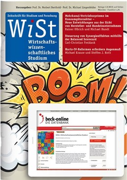 Abbildung von WiSt • Wirtschaftswissenschaftliches Studium | 49. Jahrgang | 2020 | Zeitschrift für Studium und Fo...