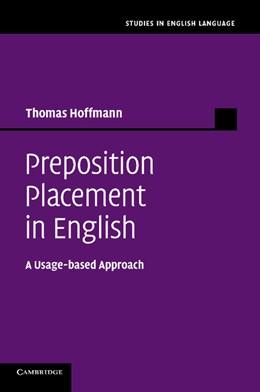 Abbildung von Hoffmann | Preposition Placement in English | 2014 | A Usage-based Approach