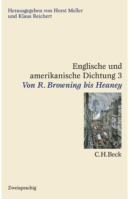 Cover: , Englische und amerikanische Dichtung: Englische Dichtung: Von R. Browning bis Heaney