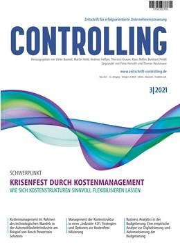 Abbildung von Controlling | 31. Jahrgang | 2019 | Zeitschrift für erfolgsorienti...