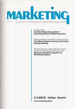 Abbildung von Marketing | 42. Jahrgang. | 2020 | ZFP • Journal of Research and ...