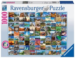 Abbildung von 99 Beautiful Places on Earth. Puzzle 1000 Teile   2014