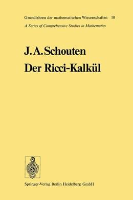 Abbildung von Schouten | Der Ricci-Kalkül | 2012 | Eine Einführung in die neueren... | 10