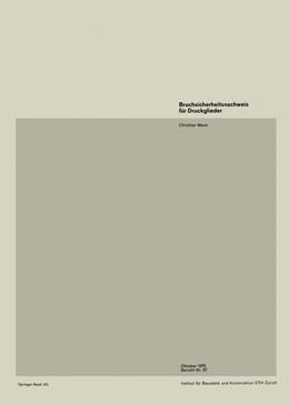 Abbildung von Menn | Bruchsicherheitsnachweis für Druckglieder | 1975 | 57
