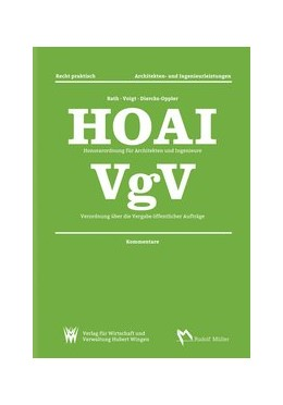 Abbildung von Pott / Dahlhoff / Kniffka | HOAI Honorarordnung für Architekten und Ingenieure – VgV Verordnung über die Vergabe öffentlicher Aufträge | 10., aktualisierte und überarbeitete | 2016 | Kommentare