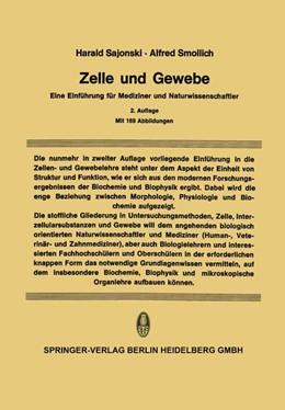 Abbildung von Sajonski / Smollich | Zelle und Gewebe | 2. Aufl. 1969 | 2014 | Eine Einführung für Mediziner ...