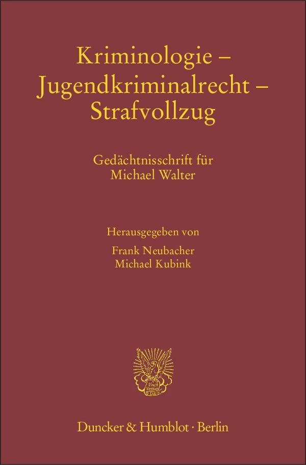 Kriminologie – Jugendkriminalrecht – Strafvollzug | Neubacher / Kubink, 2014 | Buch (Cover)