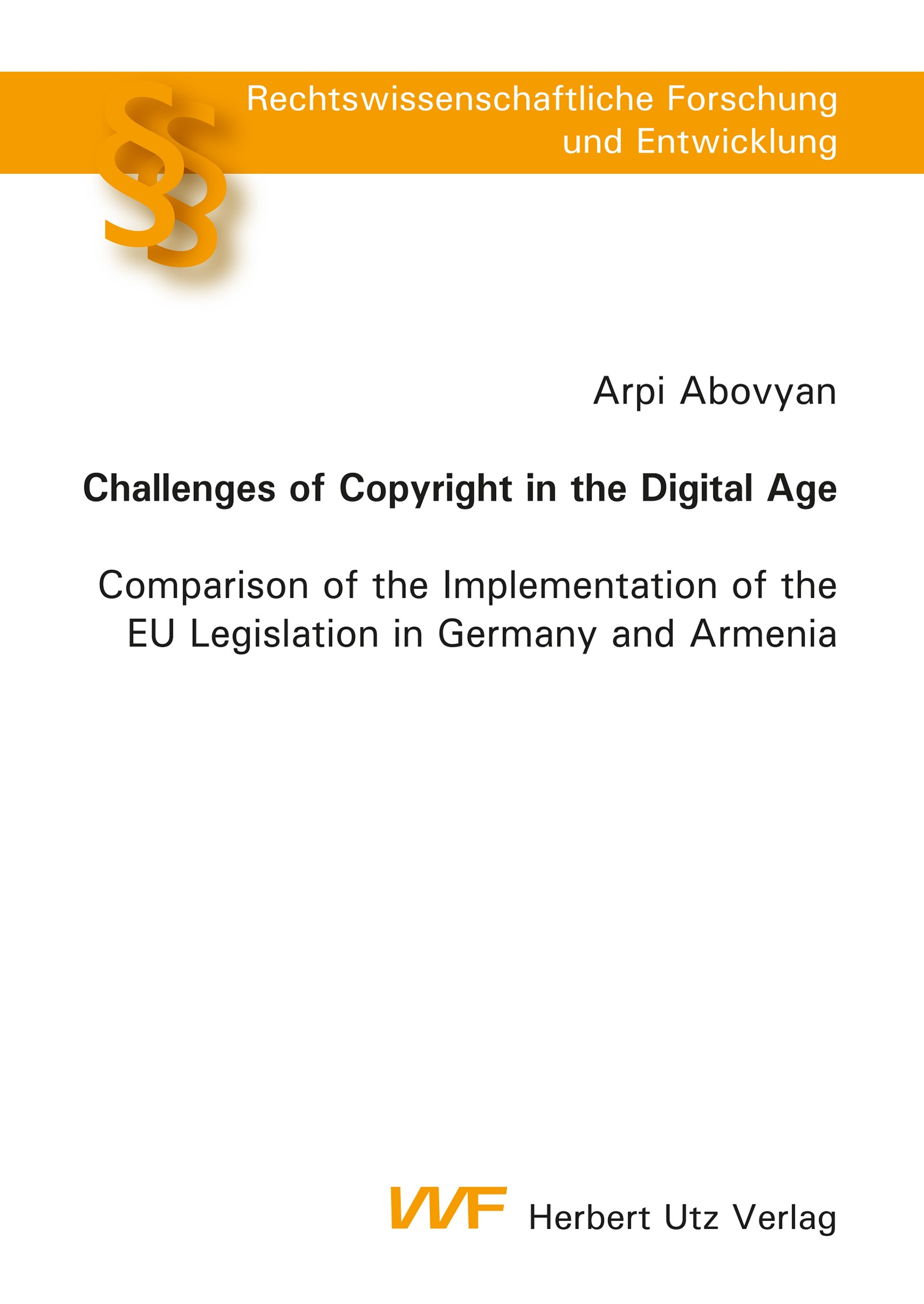Challenges of Copyright in the Digital Age | Abovyan, 2014 | Buch (Cover)