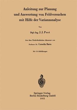 Abbildung von Post | Anleitung zur Planung und Auswertung von Feldversuchen mit Hilfe der Varianzanalyse | 1952