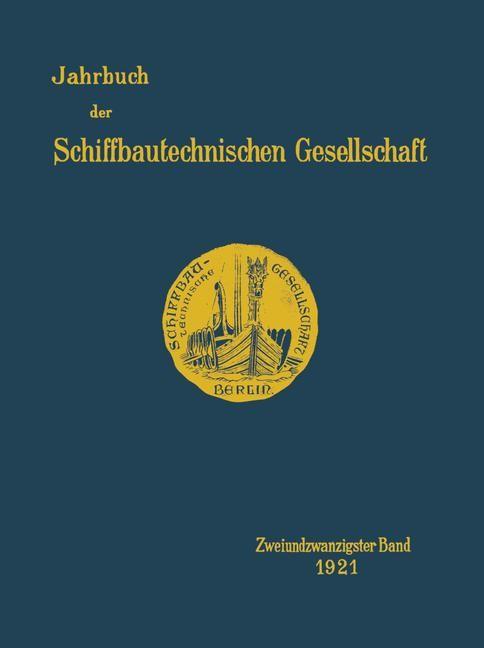 Jahrbuch der Schiffbautechnischen Gesellschaft, 1921 | Buch (Cover)