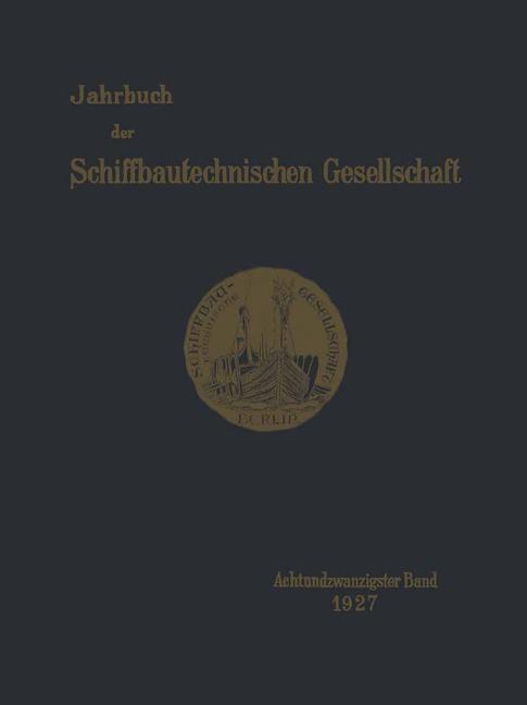 Jahrbuch der Schiffbautechnischen Gesellschaft, 1927   Buch (Cover)