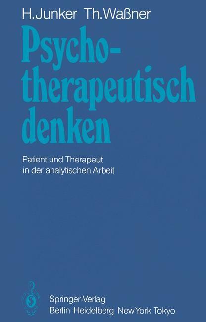 Psychotherapeutisch denken | Junker / Wassner, 1984 | Buch (Cover)