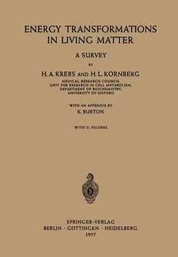 Abbildung von Krebs / Kornberg | Energy Transformations in Living Matter | 1957