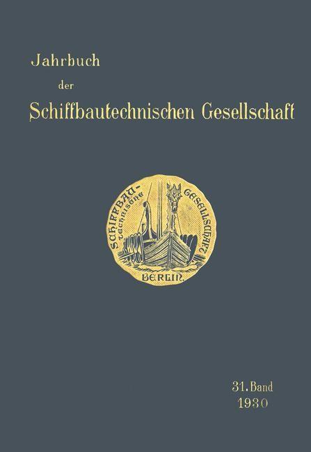 Jahrbuch der Schiffbautechnischen Gesellschaft, 1930 | Buch (Cover)