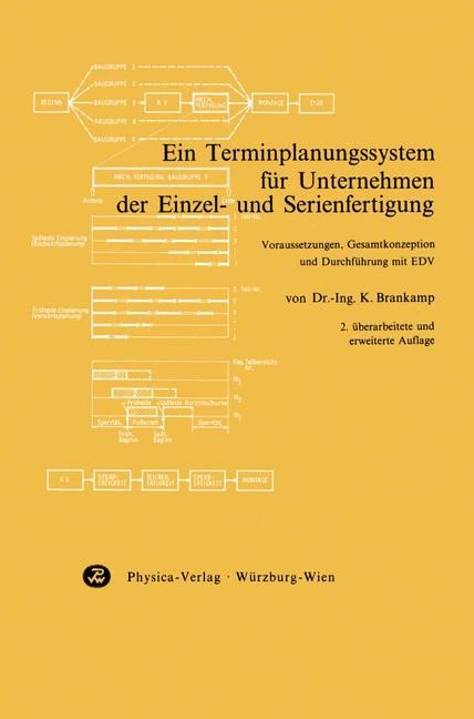 Ein Terminplanungssystem für Unternehmen der Einzel- und Serienfertigung   Brankamp, 1973   Buch (Cover)