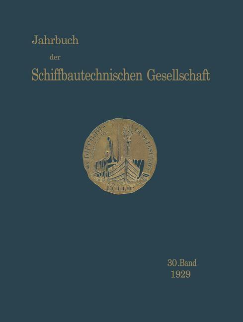 Jahrbuch der Schiffbautechnischen Gesellschaft, 1929 | Buch (Cover)