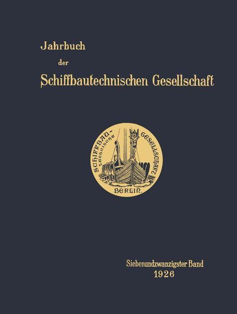 Jahrbuch der Schiffbautechnischen Gesellschaft, 1926 | Buch (Cover)