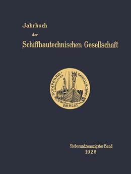 Abbildung von Jahrbuch der Schiffbautechnischen Gesellschaft   1926   Siebenundzwanzigster Band   27