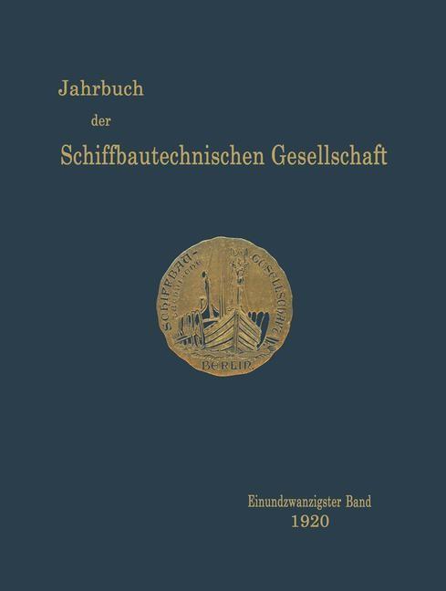 Jahrbuch der Schiffbautechnischen Gesellschaft, 1920 | Buch (Cover)
